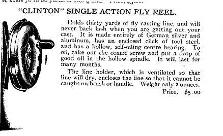Clinton Fly Reel ad
